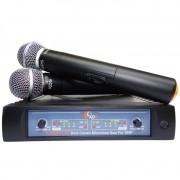 Microfone Duplo S/ Fio Kadosh KDSW 312M De Mão