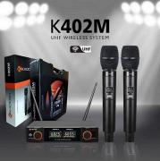 Microfone Sem Fio Duplo Kadosh K402M De Mão Uhf