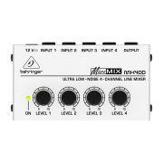 Mixer Compacto 4 Canais Behringer Micromix Mx400