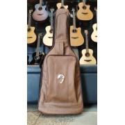 Semi Case Guitarra Couro Marrom Ponto do Musico
