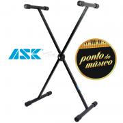Suporte De Teclado Musical Ask X10s Em X Para Um Teclado 100 Cm - Preto