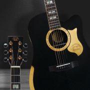 Violão Elétrico Folk Aço Gonzalez Luthier Oasis Preto