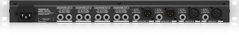 Amplificador de Fone 4 Canais Behringer Power Play HA4700