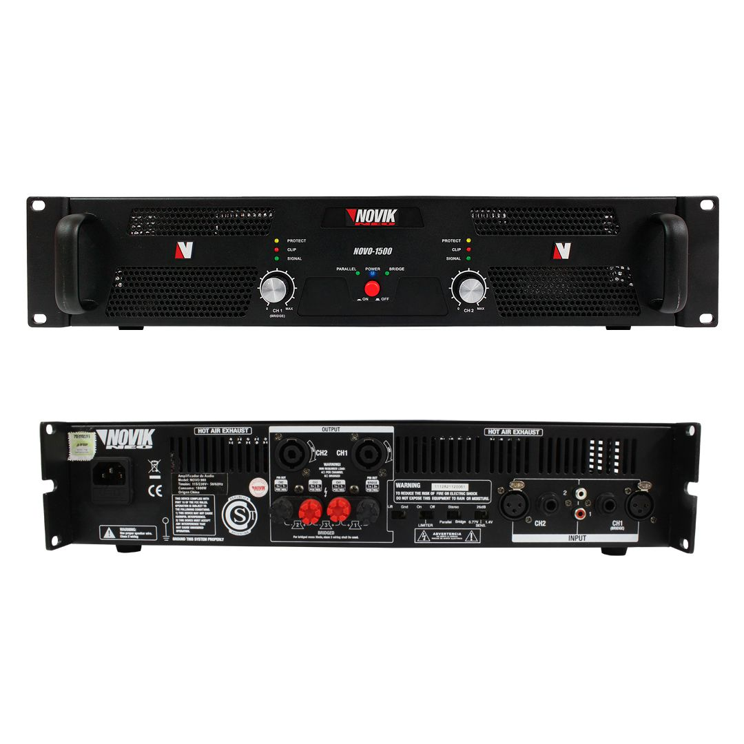 Amplificador De Potência Novik Neo Novo 1500 1500w RMS
