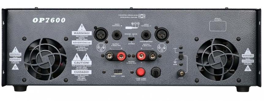 Amplificador de Potência Oneal OP7600 1300w RMS Bivolt