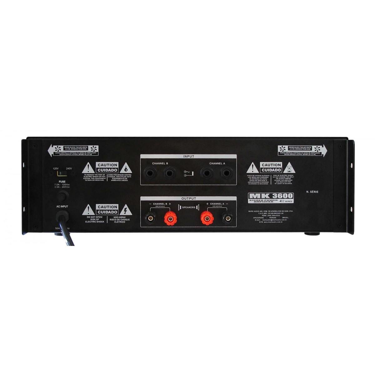 Amplificador Potência Mark Audio MK3600