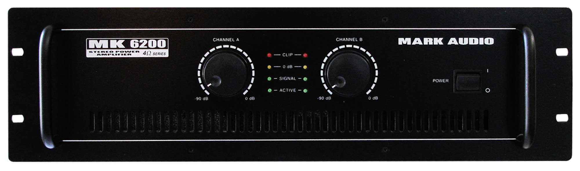 Amplificador Potencia Mark Audio MK6200 1200WRMS 4OHMS