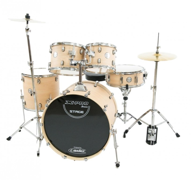 Bateria Acustica 22 C.Ibanez X-pro Stage Natural Wood
