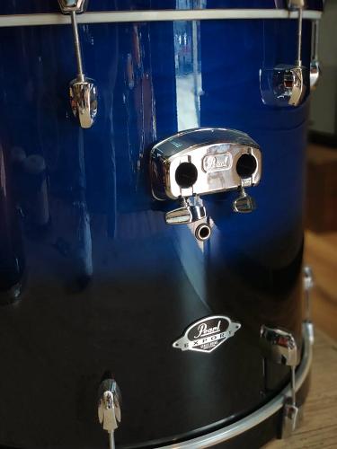 Bateria Acústica Pearl Export EXL 222 Sea Blue Fade Shell Pack Outlet Com Ferragens D-One