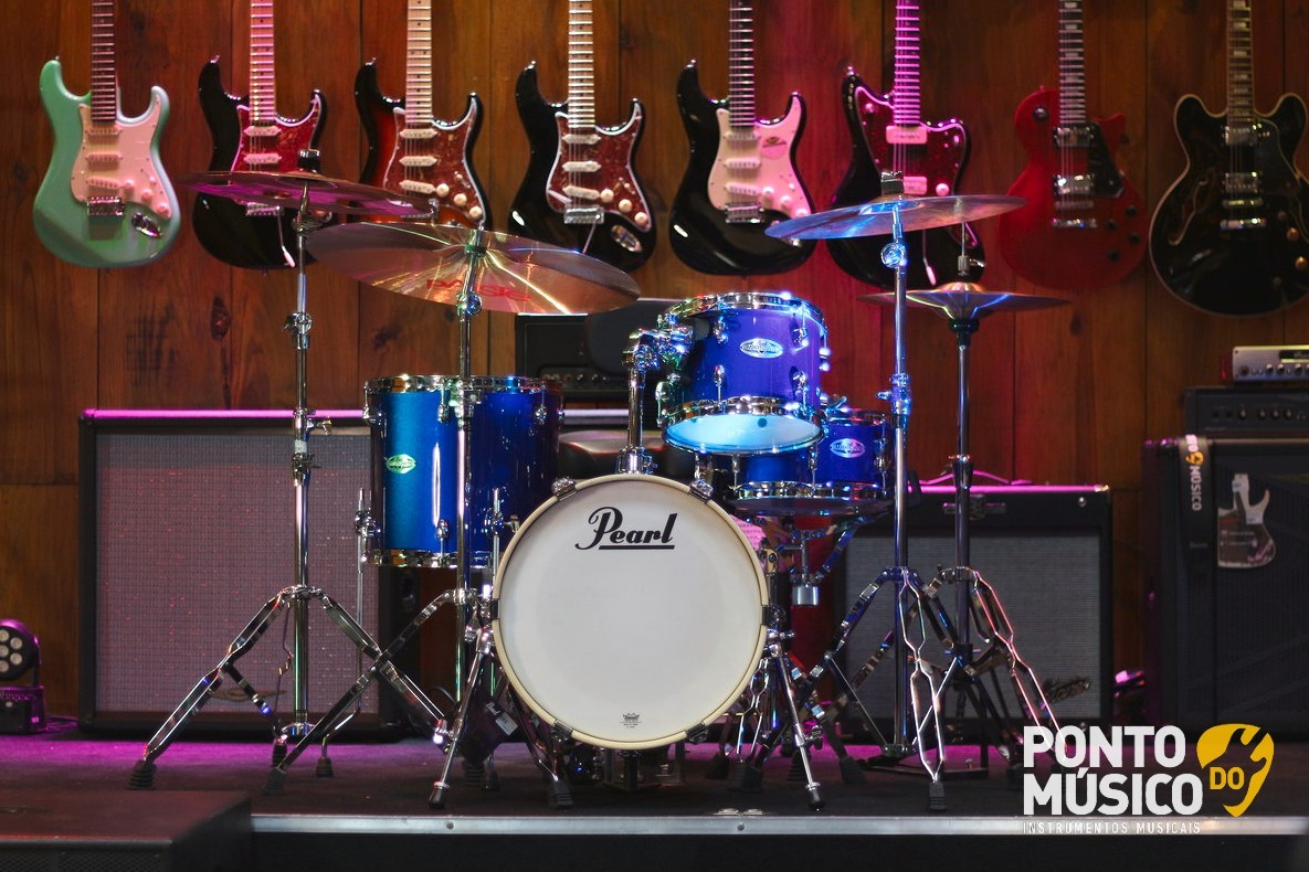 Bateria Acustica Pearl Midtown High Voltage Blue Shell Pack - Outlet