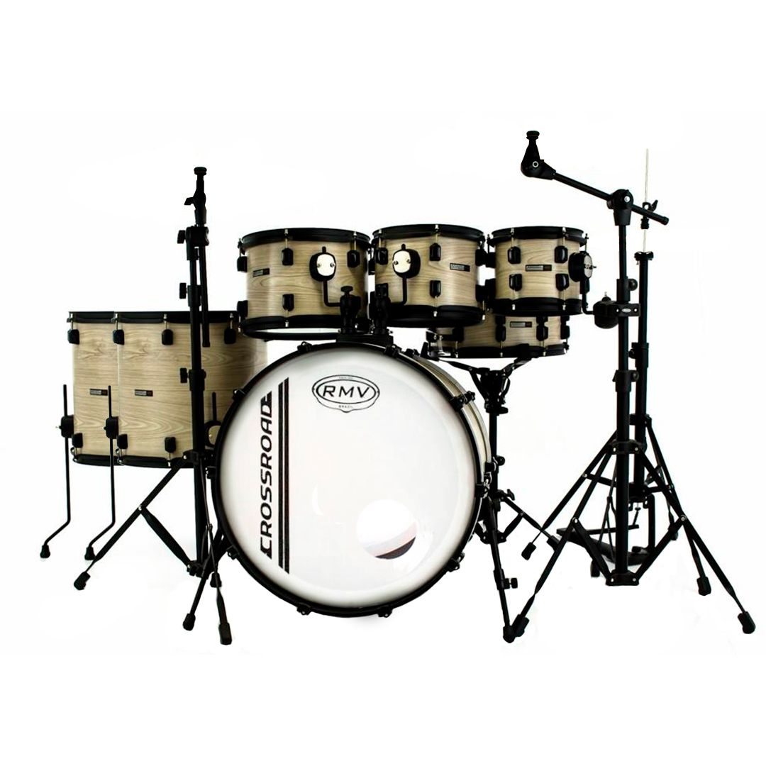 Bateria Acustica RMV Cross FULL Bumbo 22 Bianco Wood Outlet Premium