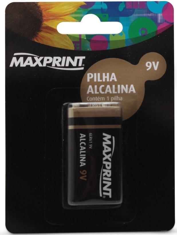 Bateria Alcalina Maxprint 9V