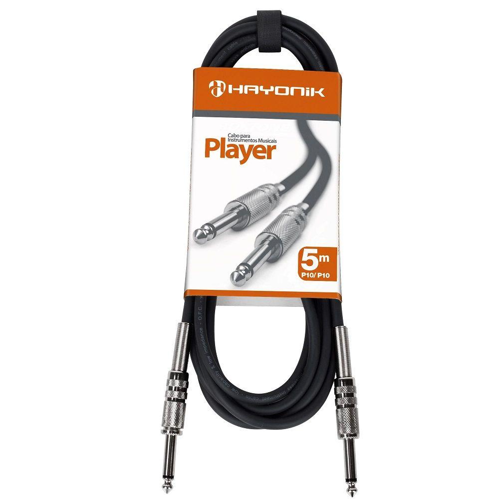 Cabo Hayonik Player P10 x P10 5 Metros Para Instrumentos
