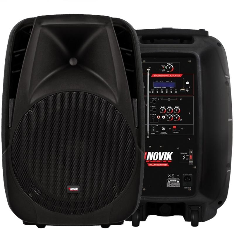 Caixa Ativa Novik Rolling Sound 10bt Portatil C/ Bateria
