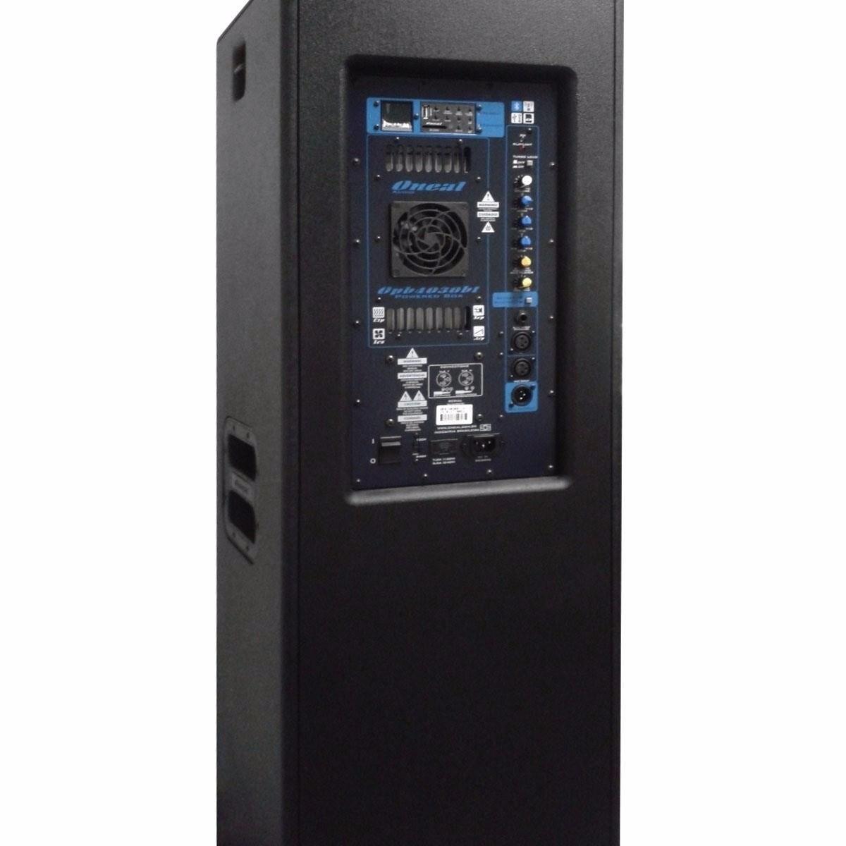 Caixa Ativa Oneal 2 x15 OPB5050 Bt 1300w Bluetooth USB FM