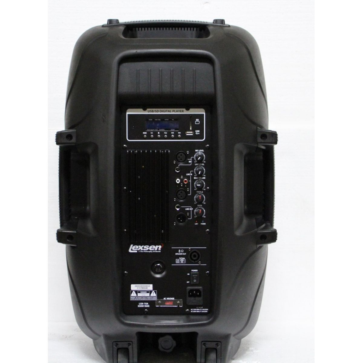 Caixa Ativa Lexsen LSX15A 15' 220w Rms Bluetooth Usb 2 Anos Garantia