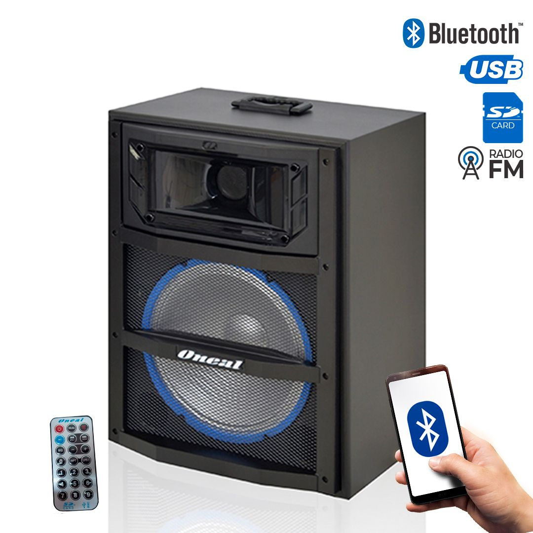 Caixa Multiuso Oneal 10 OCM3910 120w Rms Bluetooth USB / FM / Sd Card