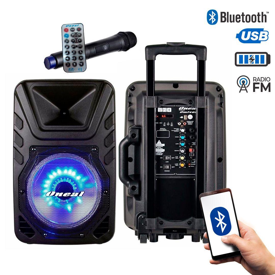 Caixa Multiuso Oneal OMF405 Bt USB FM Bateria e Microfone Sem Fio