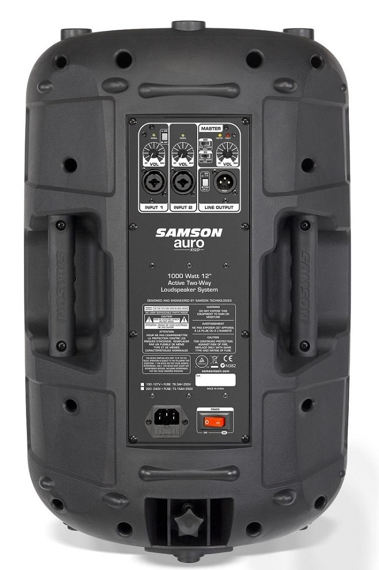 Caixa Som Ativa 12 Samson Auro X12d 1000w 2 Vias
