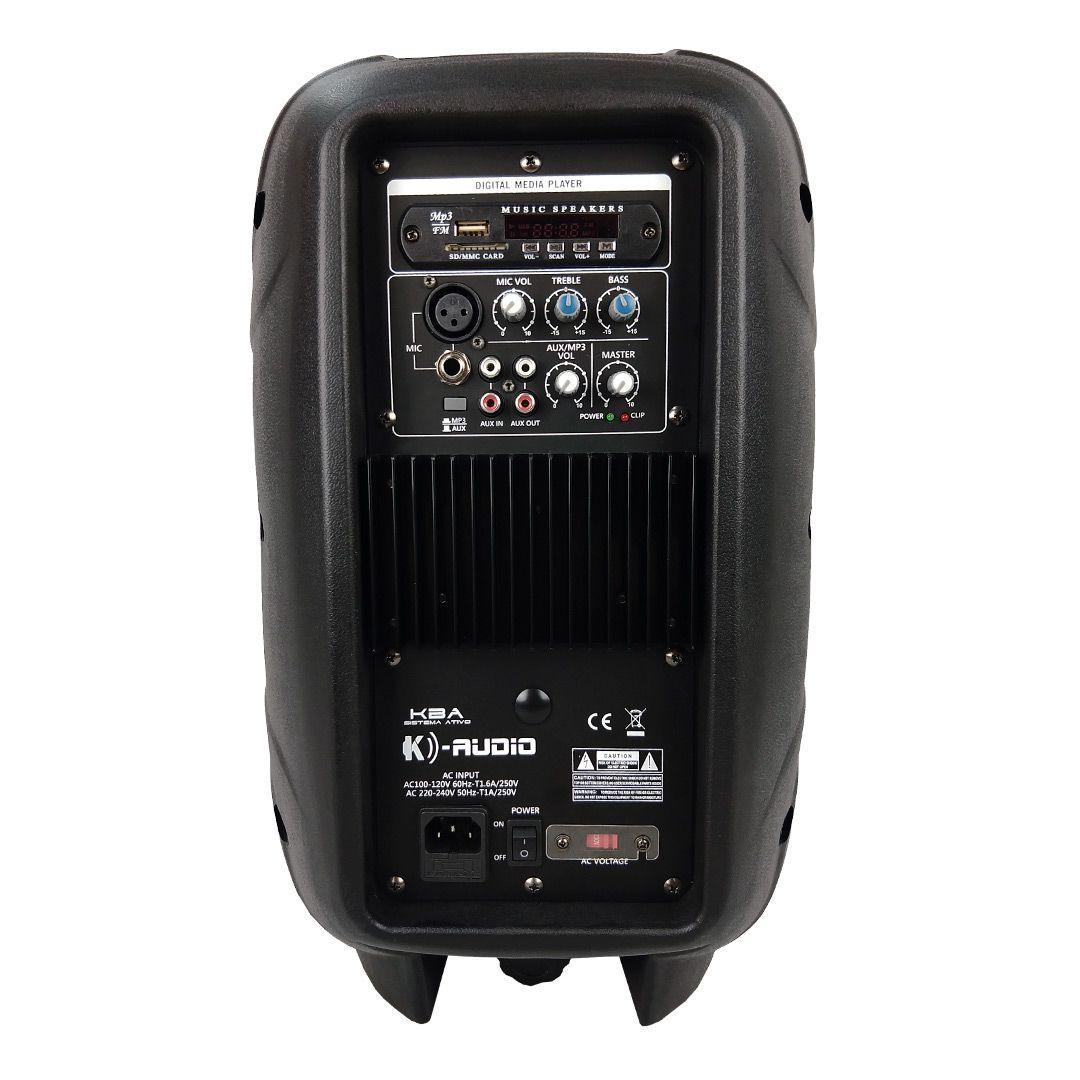 Caixa Som Ativa K-Audio KBA10 USB MP3
