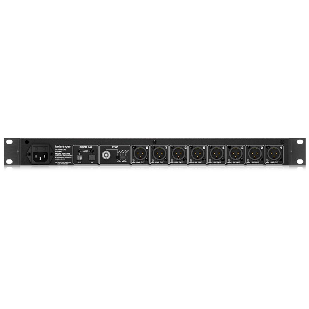 Conversor Digital Behringer Ada 8200 Pro 8 Canais C/ Pre MIDAS 2 ANOS GARANTIA