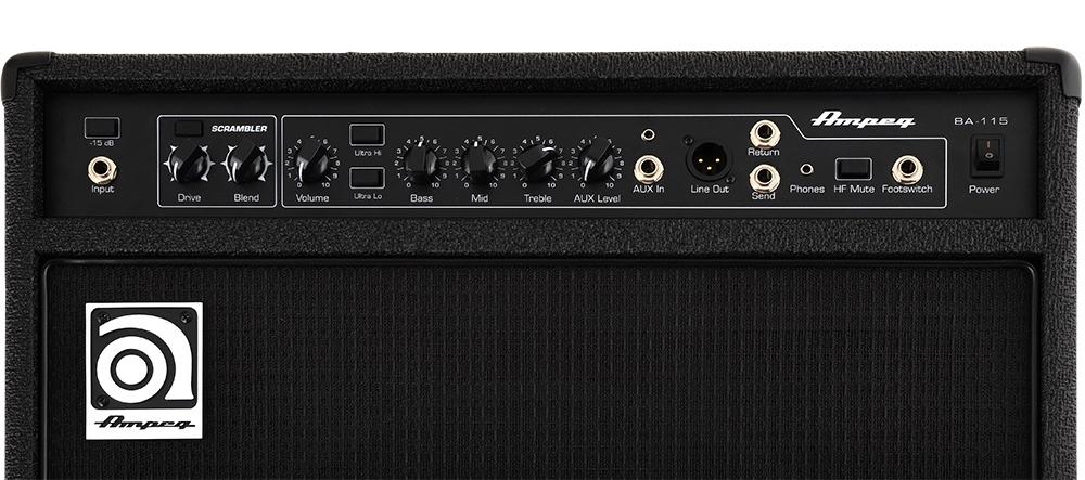"""Cubo Amplificador Baixo AMPEG BA115 V2 15"""" 150W Rms P/ Contra Baixo"""