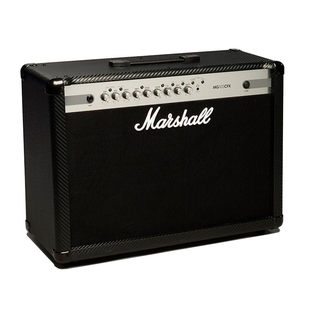 Cubo Amplificador Marshall Mg102cfx 100W Rms Com Footswitch P/ Guitarra