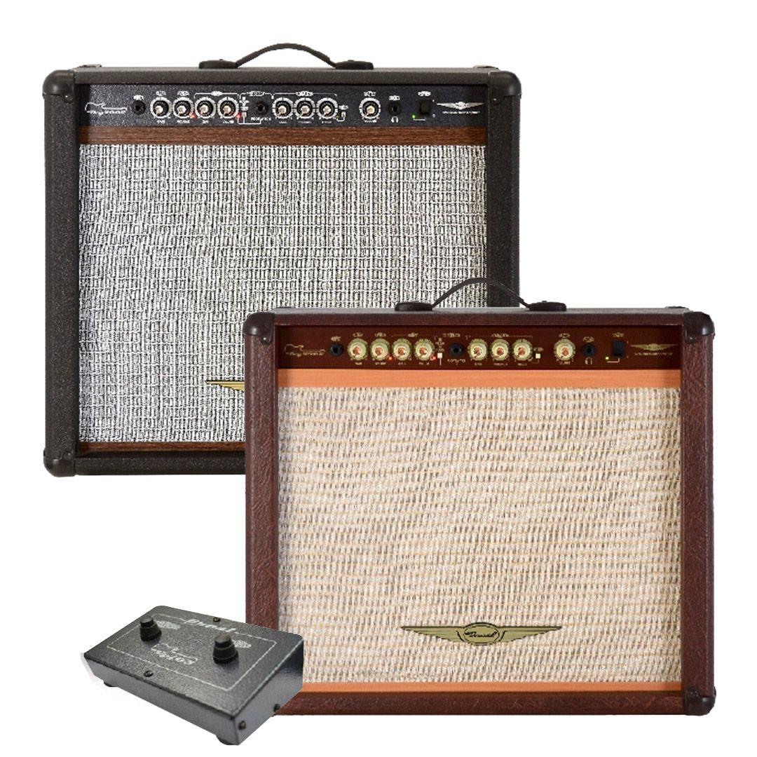 Cubo Amplificador Para Guitarra Oneal OCG400 Marrom 90w 12 Pol
