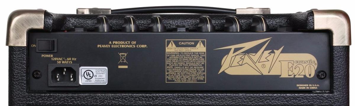 Cubo Amplificador Violão Peavey Ecoustic E20 20w Rms