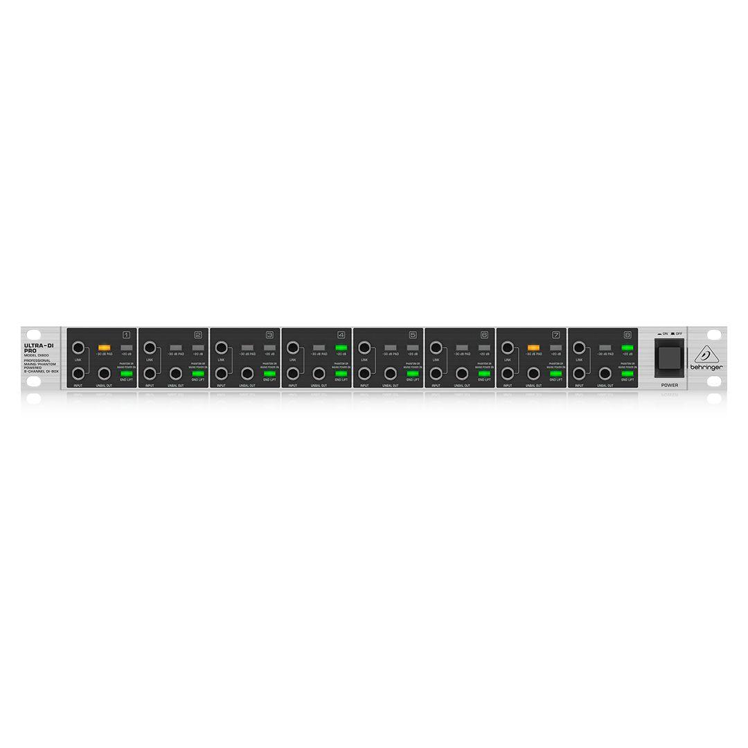 Direct Box Ativo 8 Canais Behringer Ultra Di Pro Di800 2 Anos de Garantia