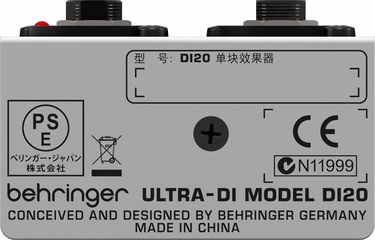 Direct Box Ativo Behringer Di20 Ultra-Di