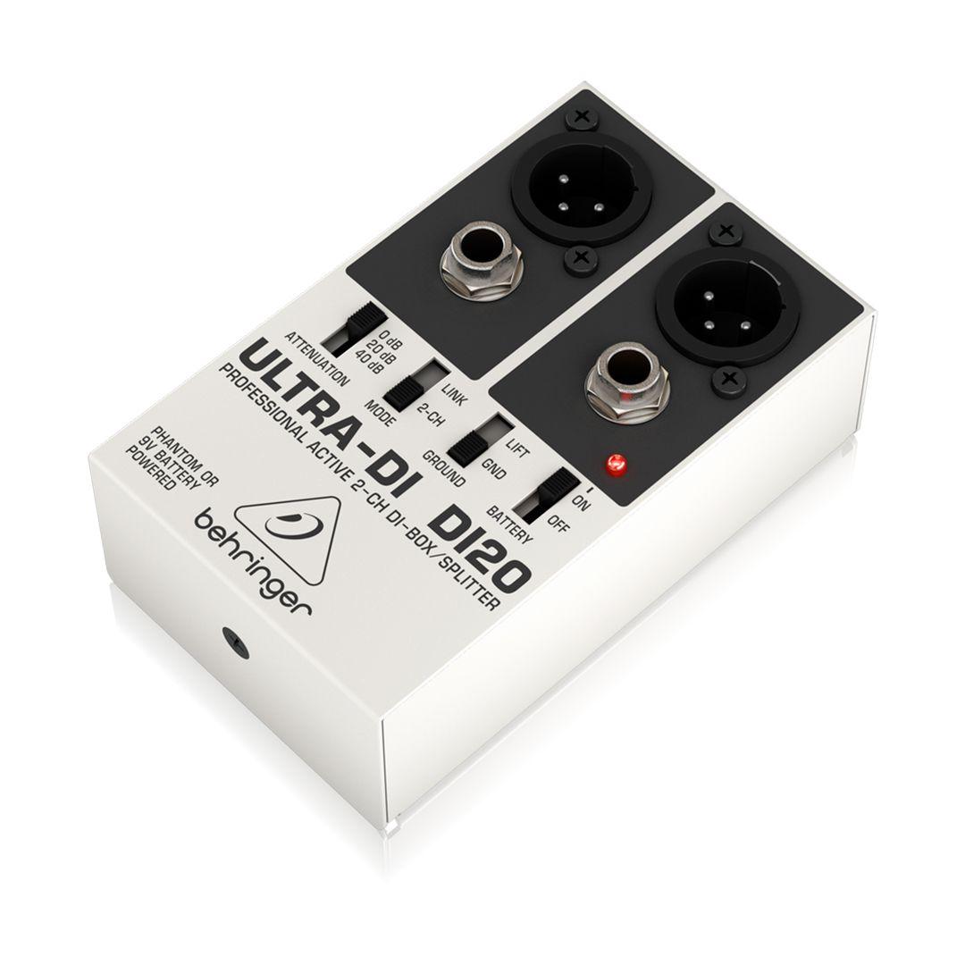 Direct Box Ativo Behringer Ultra Di Di20 2 Anos Garantia