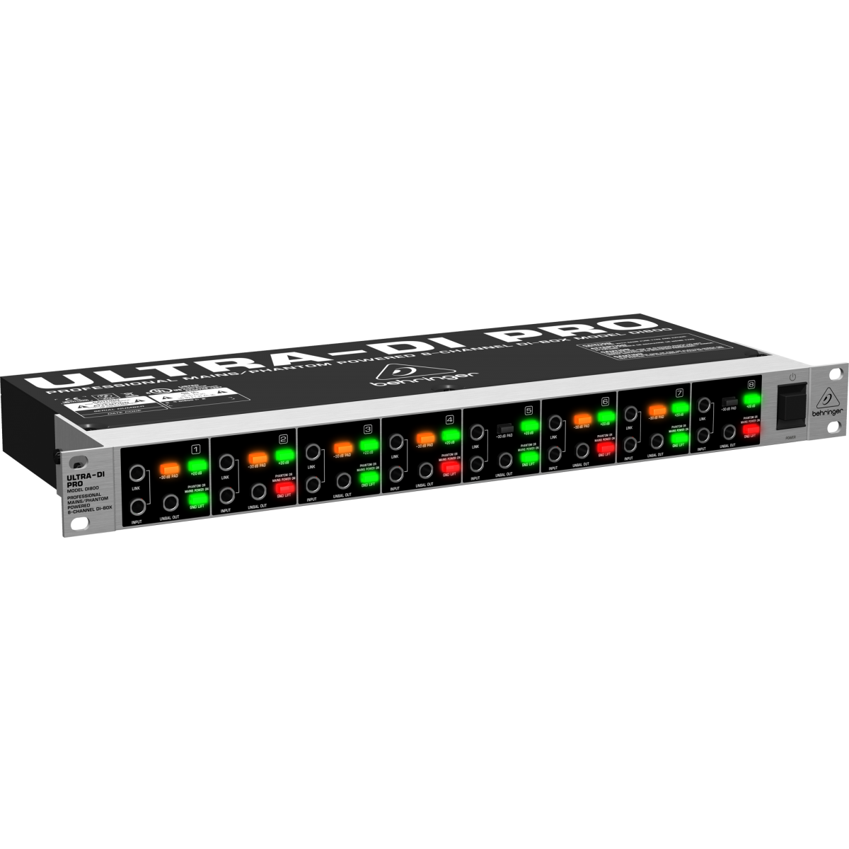 Direct Box Ativo Behringer Ultra-di Di800 P/ Rack