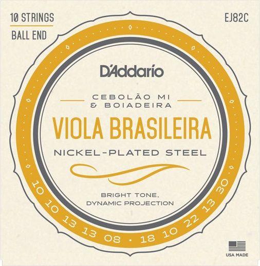 Encordoamento Daddario EJ82-C P/ Viola Brasileira