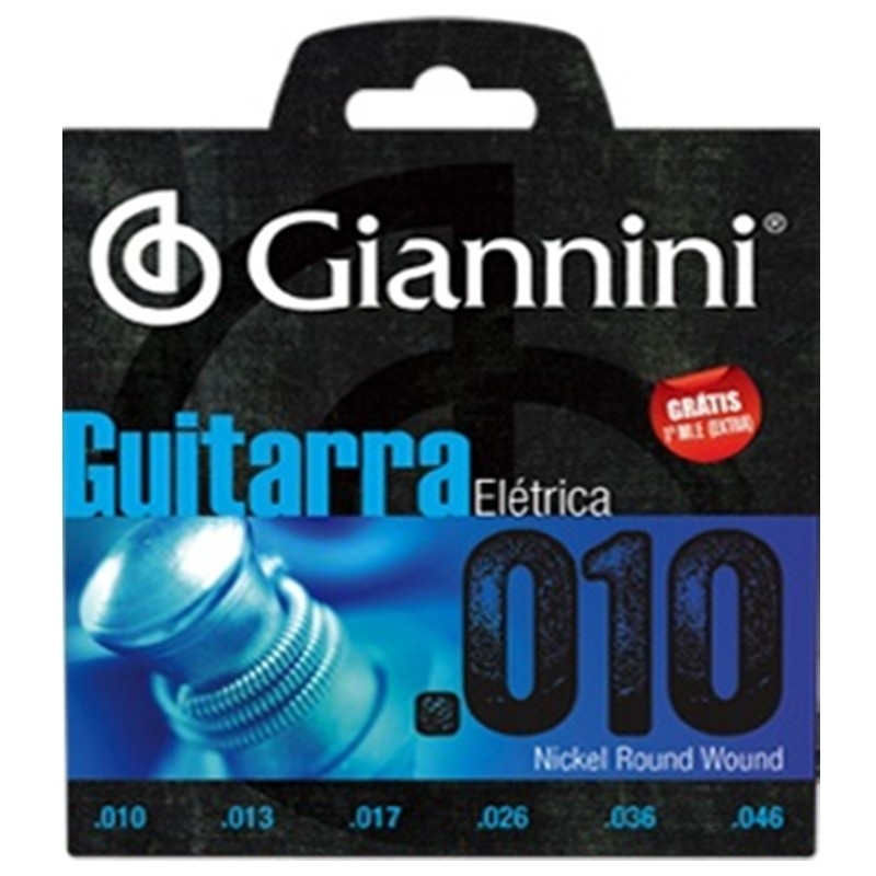 Encordoamento Giannini GEEGST10 010 P/ Guitarra + EXTRA
