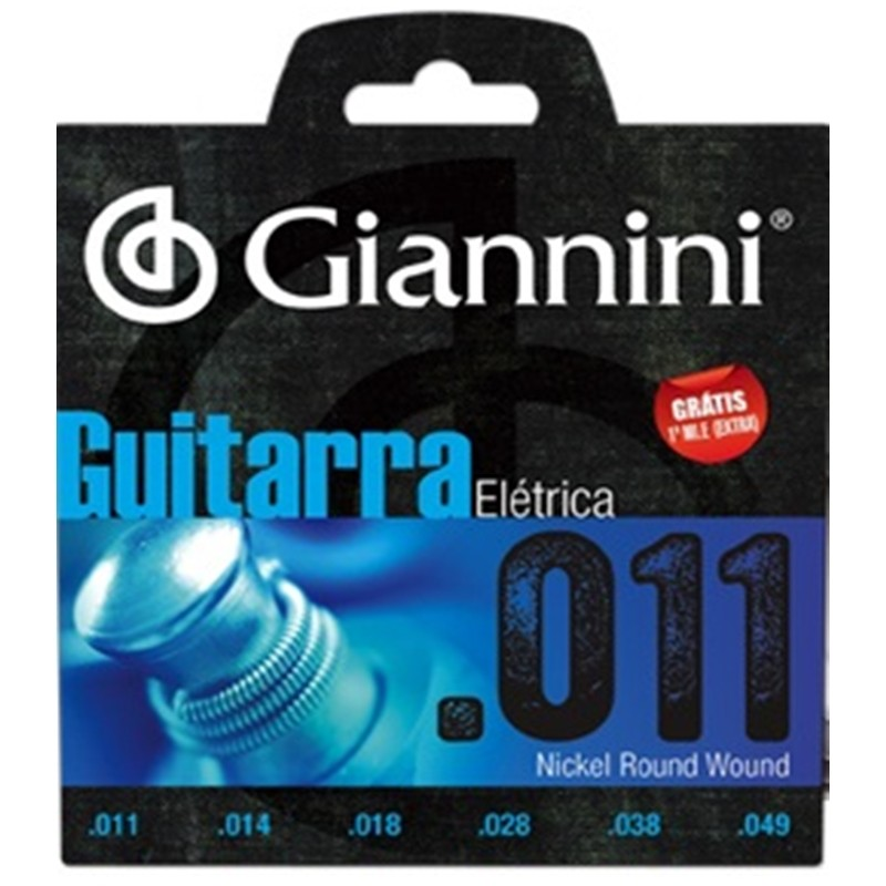 Encordoamento Giannini GEEGST11 011 P/ Guitarra