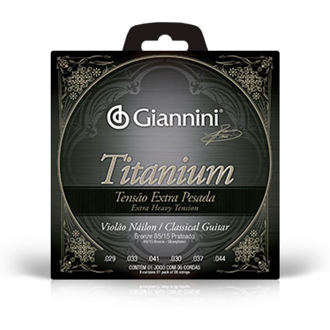 Encordoamento Giannini Violão Nylon 85/15 Titanium GENWXTA Extra Pesada
