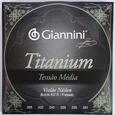 Encordoamento Giannini Violão Titanium 85/15 GENWTM 14060