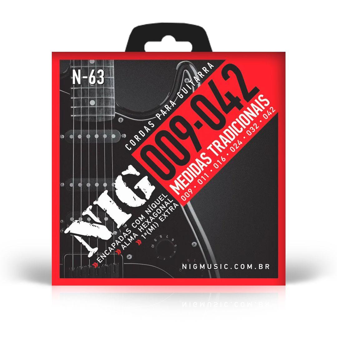 Encordoamento Guitarra Nig N-63 009 Tradicional