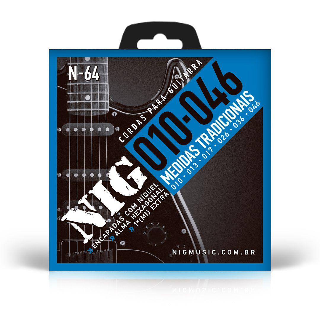 Encordoamento Nig Guitarra 010 N64 Trad