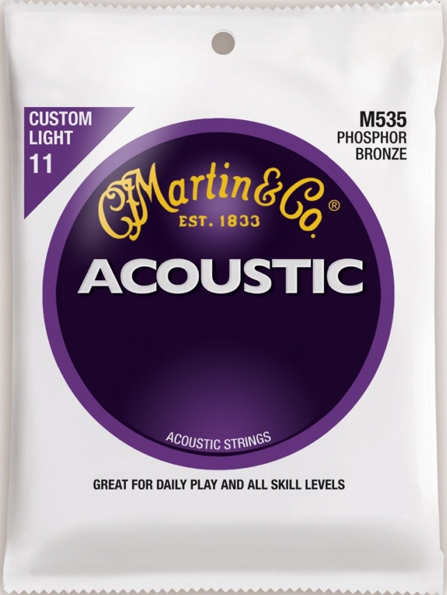 Encordoamento Martin M535 Phosphor Bronze 011 P/ Violão Aço