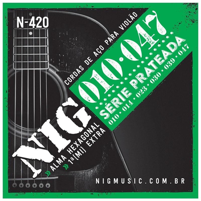 Encordoamento NIG N420 010 P/ Violão Aço