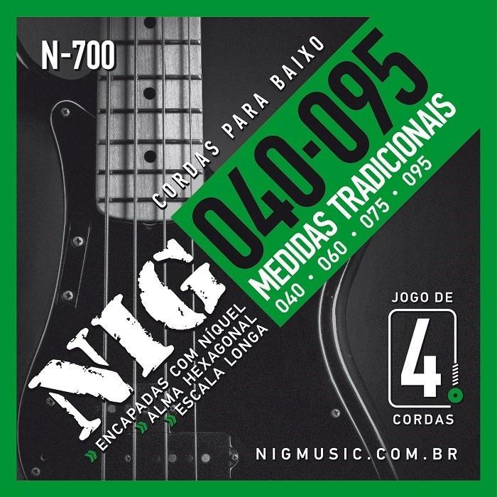 Encordoamento Nig N700 040 P/ Baixo 4 Cordas