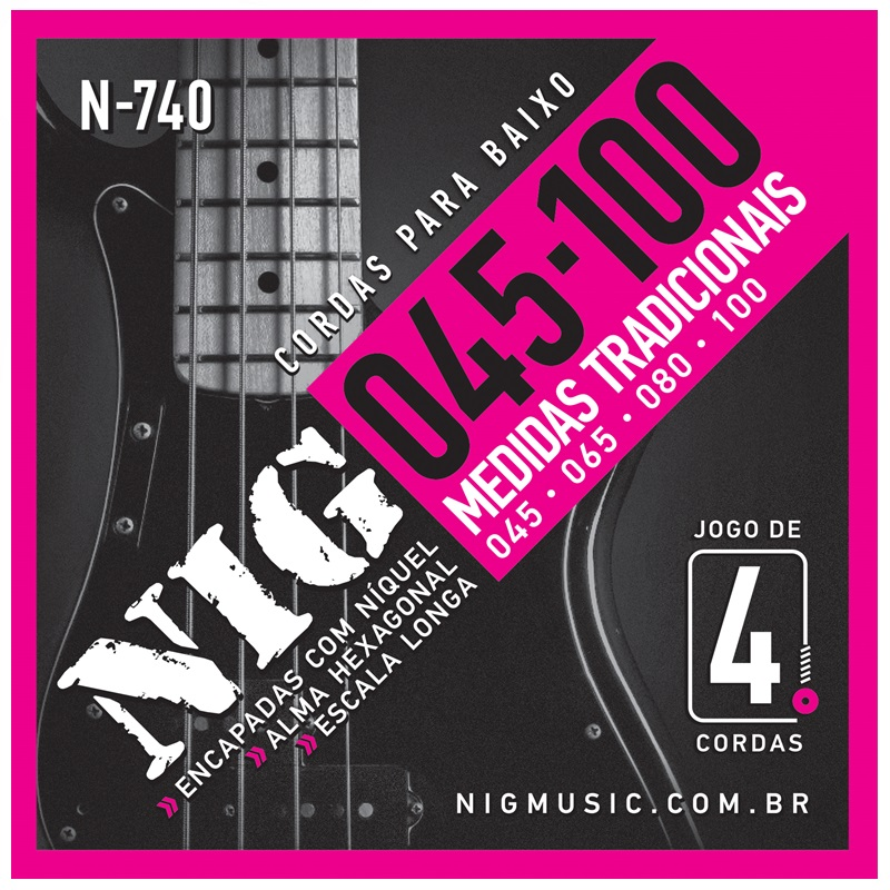 Encordoamento Nig N740 045 P/ Baixo 4 Cordas