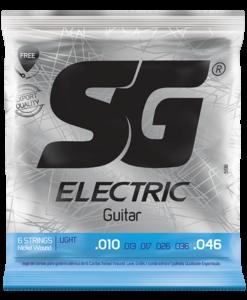 Encordoamento Para Guitarra SG Nickel Wound 010