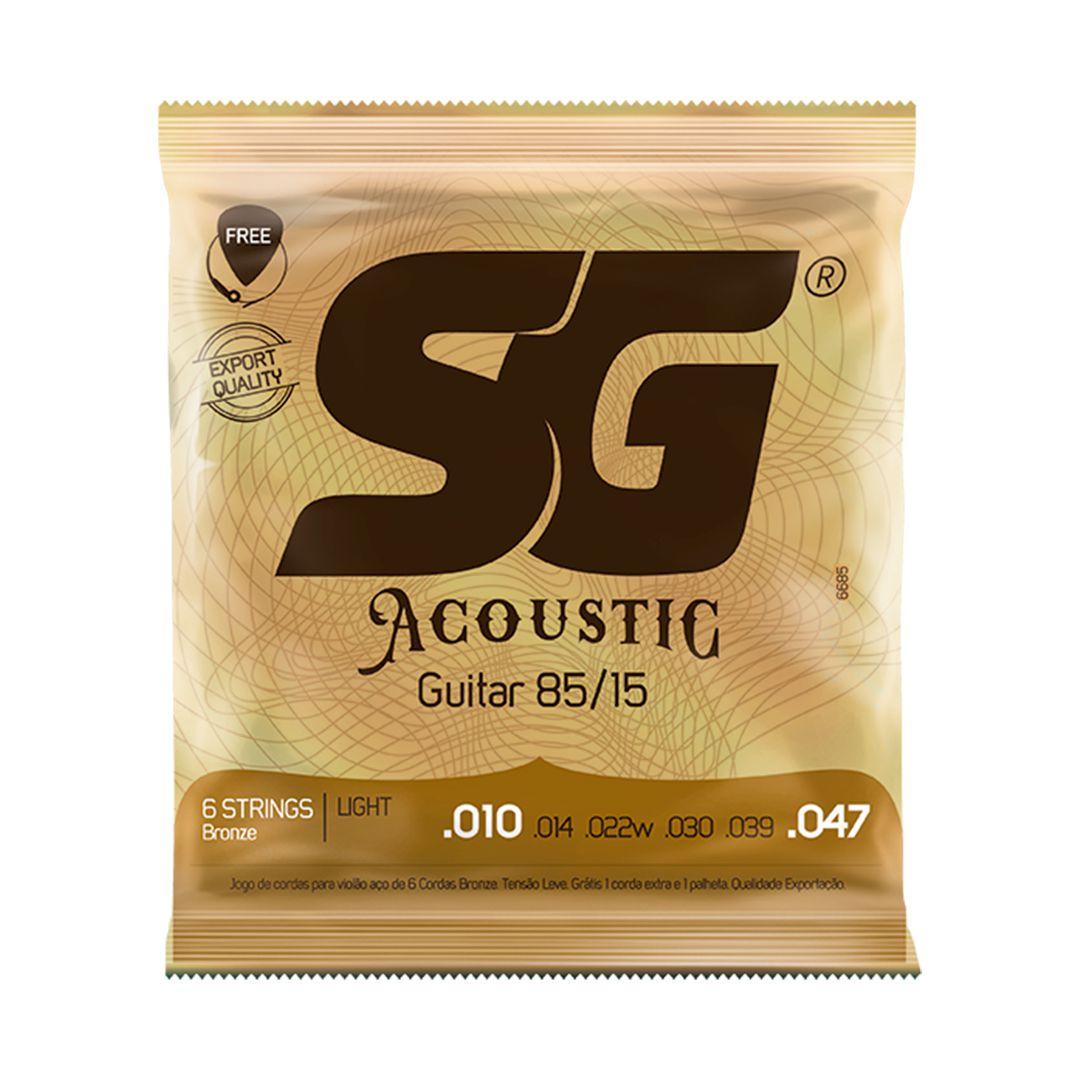 Encordoamento Violão AÇO 010 SG Acoustic Bronze 85/15