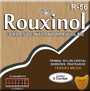 Encordoamento Rouxinol R-56 Media Tensão P/ Violão Nylon + Palheta