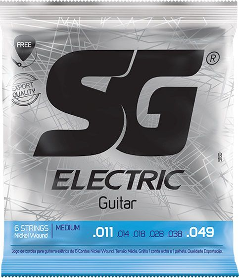 Encordoamento Sg Nickel P/ Guitarra 011 + Palheta