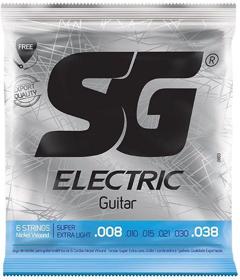 Encordoamento SG Guitarra 008 Nickel Wound