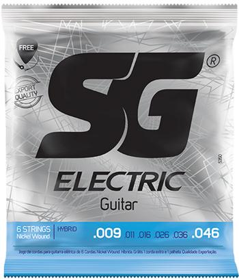 Encordoamento SG Nickel Wound 09 Extra Light Hybrid P/ Guitarra